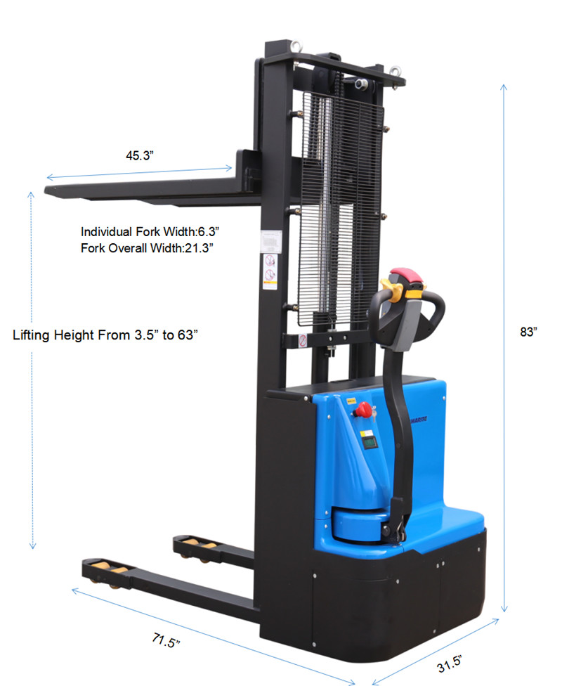 HH1216 electric stacker details