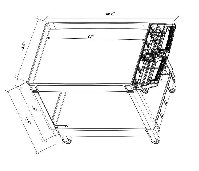 UB252 plastic utility platform cart details